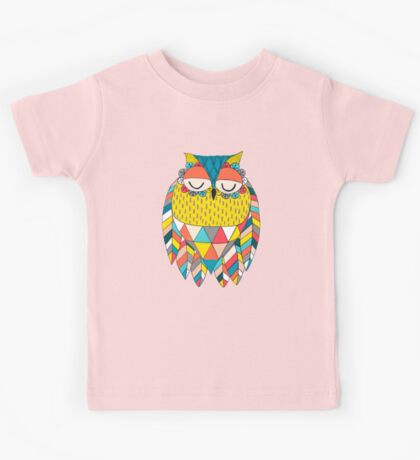 Aztec Owl Illustration Kids Clothes