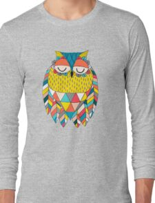 Aztec Owl Illustration Long Sleeve T-Shirt