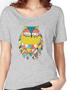 Aztec Owl Illustration Women's Relaxed Fit T-Shirt