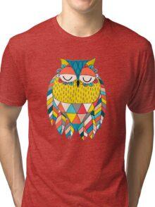Aztec Owl Illustration Tri-blend T-Shirt