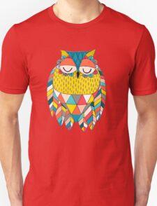 Aztec Owl Illustration Unisex T-Shirt
