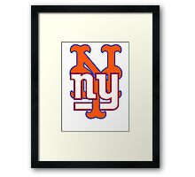 New york Mets Giants mash up Framed Print