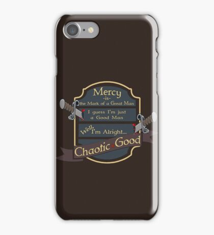 D&D TEE - CHAOTIC GOOD iPhone Case/Skin