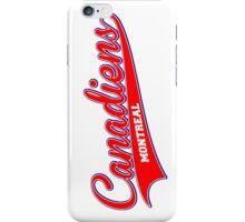 Canadiens red script iPhone Case/Skin