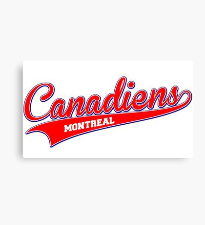 Canadiens red script Canvas Print