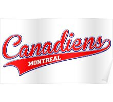 Canadiens red script Poster