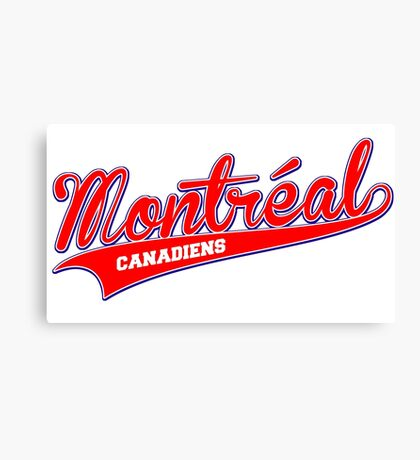 Montreal red script Canvas Print