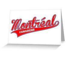 Montreal red script Greeting Card