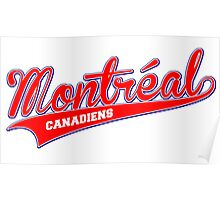 Montreal red script Poster