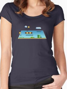 Super Mario World pop out Women's Fitted Scoop T-Shirt