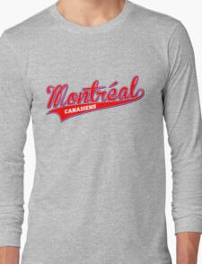 Montreal red script Long Sleeve T-Shirt