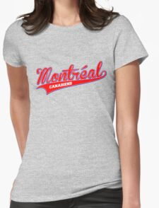 Montreal red script Womens Fitted T-Shirt
