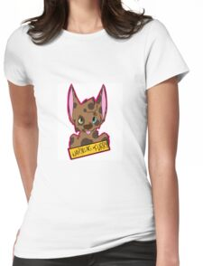 WARNING: FURRY Womens Fitted T-Shirt