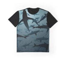 Sharks, Lots and Lots of Sharks Graphic T-Shirt