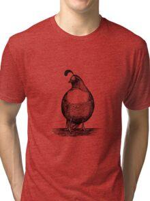 California Quail Tri-blend T-Shirt