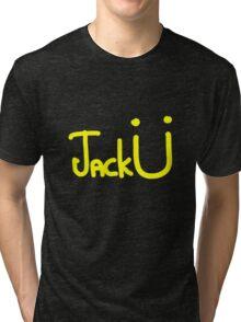 Jack Ü - Yellow Tri-blend T-Shirt