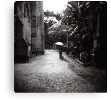 Rainy day in the cemetery Canvas Print