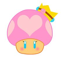 Princess Peach Mushroom by alakaprazolam