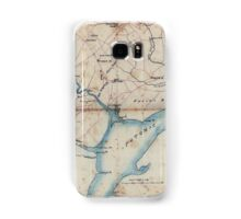 Civil War Maps 2030 Map of part of Fairfax and Prince William Counties Virginia Samsung Galaxy Case/Skin