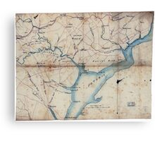 Civil War Maps 2030 Map of part of Fairfax and Prince William Counties Virginia Canvas Print