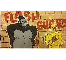Flash sucks Photographic Print