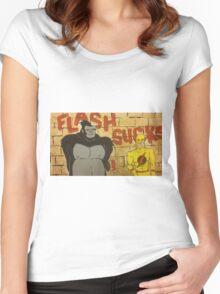 Flash sucks Women's Fitted Scoop T-Shirt