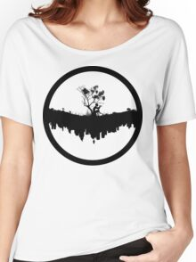 Urban Faun - Black on White Women's Relaxed Fit T-Shirt