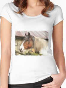 Waiting for a stroke Women's Fitted Scoop T-Shirt