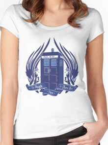 Doctor Who - Angels have the Phone Box Women's Fitted Scoop T-Shirt