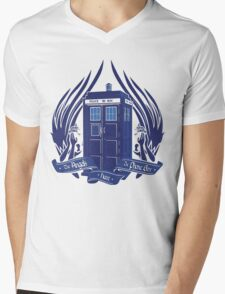 Doctor Who - Angels have the Phone Box Mens V-Neck T-Shirt