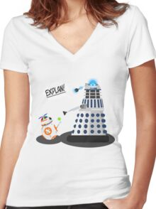 Star Wars / Doctor Who - Explain!! Women's Fitted V-Neck T-Shirt