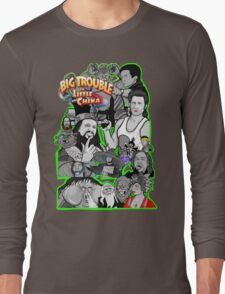 Big Trouble in Little China character collage  Long Sleeve T-Shirt