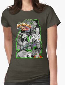 Big Trouble in Little China character collage  Womens Fitted T-Shirt