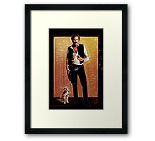 Ron Burgundy Han Solo Framed Print