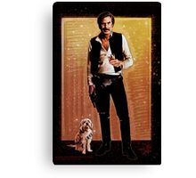 Ron Burgundy Han Solo Canvas Print