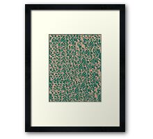 Green Snake Bark Maple Framed Print