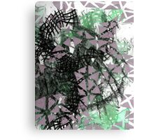 Meditative Conversation with Mechanical Contrast Canvas Print