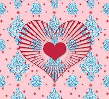 Valentine's damask by kathrynhack