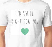 Swipes Right Unisex T-Shirt