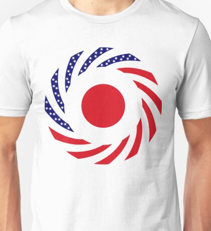Japanese American Multinational Patriot Flag Series Unisex T-Shirt
