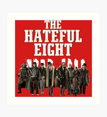 the hateful eight characters Art Print