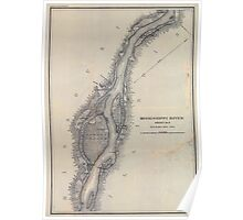 Civil War Maps 1166 Mississippi River from Cairo Ill to St Marys Mo in VI sheets 02 Poster