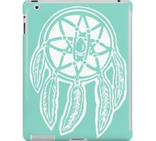 Turquoise Dreamcatcher Printmaking Art iPad Case/Skin