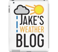 Jake's Weather Blog iPad Case/Skin