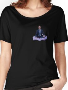 barney floating on a cloud Women's Relaxed Fit T-Shirt