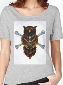Wisdom Owl , traditional tattoo design and Illustration Women's Relaxed Fit T-Shirt