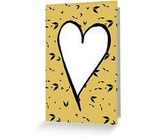 Be mine in Cream Gold Valentine Card Greeting Card