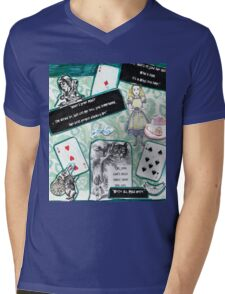 We're All Mad Here.. Mens V-Neck T-Shirt