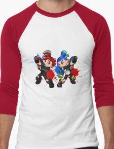 Inking Boy vs Octoling Boy Splat Men's Baseball ¾ T-Shirt