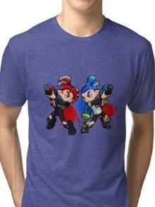Inking Boy vs Octoling Boy Splat Tri-blend T-Shirt